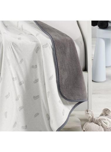 Denizli Concept Sleepy Çift Yüz Bebek Battaniyesi 80x100 Antrasit Antrasit